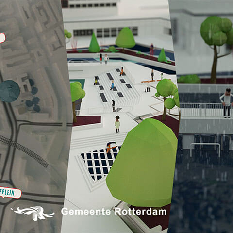 Explanation Animation Watersquare for Gemeente Rotterdam