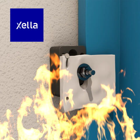 Technical animation for Xella firewall anchors